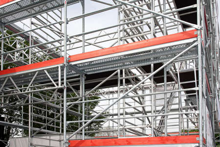 scaffolds: Big aluminum scaffolds platforms for building construction