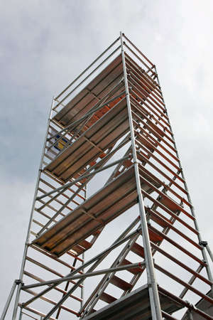 scaffolds: Tall aluminum scaffolds platforms for building construction