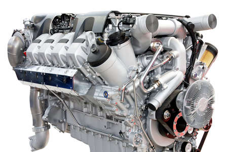 diesel generator: Close up shot of silver chrome engine