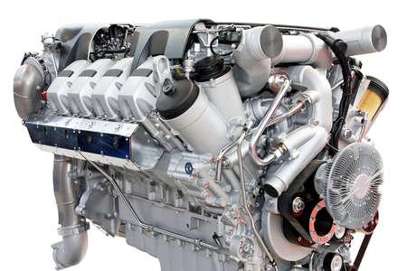 Close up shot of silver chrome engine Stock Photo - 3628345