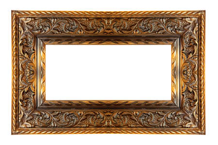 big picture: Old panoramic frame in pure gold color
