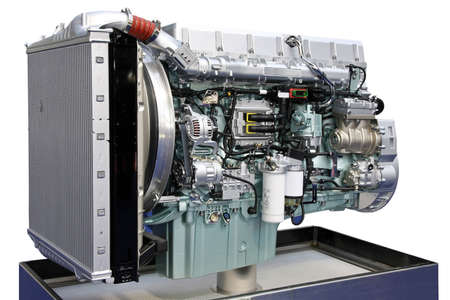 Big truck turbo charged engine angle shot Stock Photo - 3677829