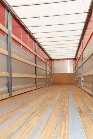 Interior view of empty semi truck trailer Stock Photo - 3677827