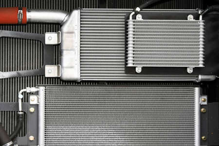 Cooling water radiators for heavy industrial machinery