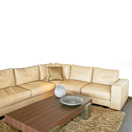 Living room with beige sitting area isolated Stock Photo - 3810860