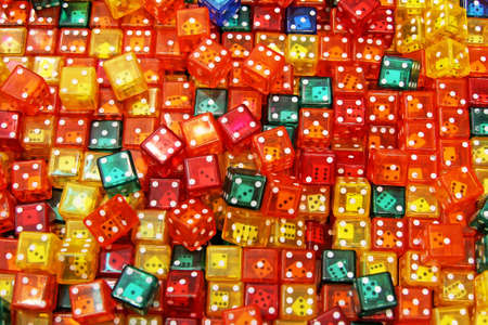 Background texture made from colorful dice toys Stock Photo - 3828141