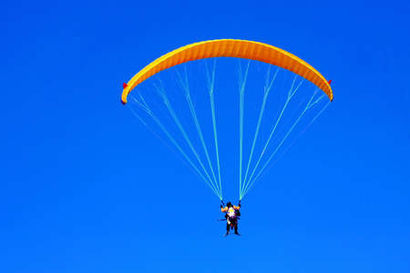 paraglide: Close up shot of paraglide for two Stock Photo