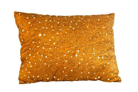 olden: olden shinny pillow isolated with clipping path