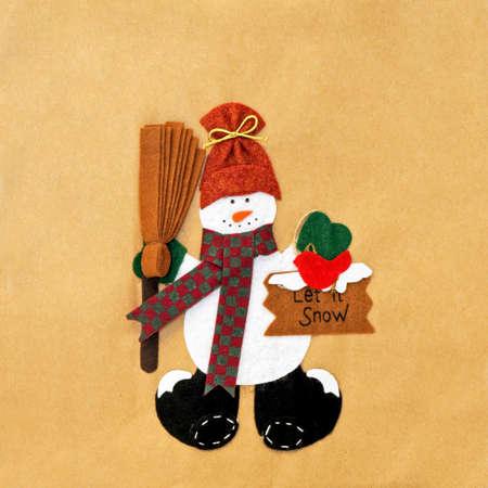 to let: Donna: il pupazzo di neve gelida faccia neve Archivio Fotografico