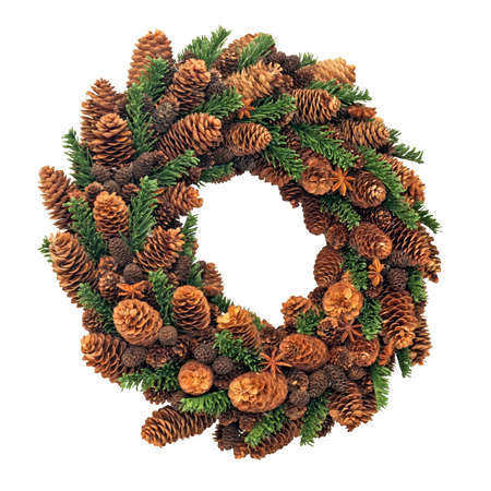 Christmas pinecone wreath  Stock Photo - 16350616
