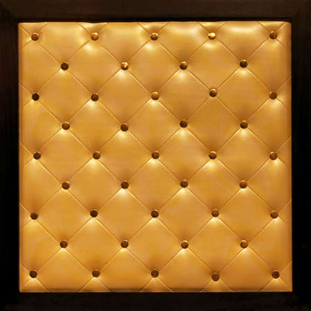 upholster: Classic leather upholster pattern in square frame Stock Photo