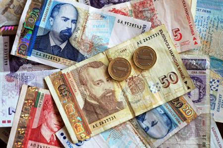 Close up shot of Bulgarian Lev money banknotes Stock Photo - 3925181