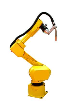 mano robotica: Amarillo robot soldador autom�tico para la industria metal�rgica