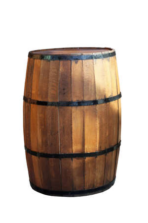Wooden barrel for beverage isolated Stock Photo - 4041791