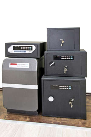 Close up shot of five safe boxes Stock Photo - 4070549