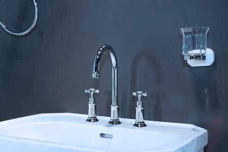 Close up shot of classic style wash basin Stock Photo - 4140914