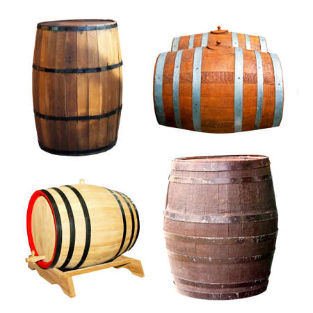 Classics old wooden barrels for beverage drinks Stock Photo - 4513237