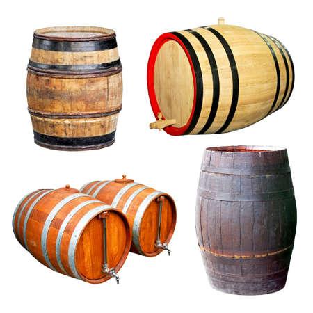 classics: Classics old wooden barrels for beverage drinks