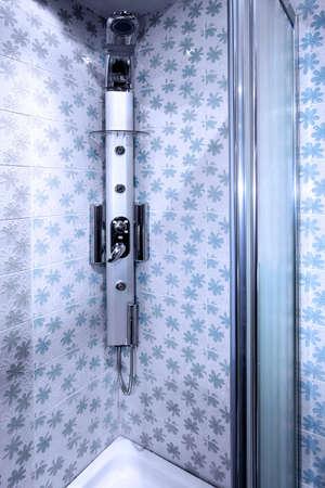 duschkabine: Close up Schuss Dusche Interieur Lizenzfreie Bilder