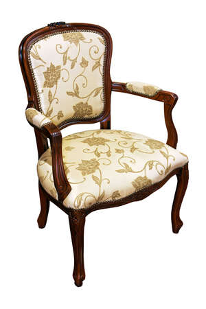 upholster: Classic style chair isolated included path Stock Photo