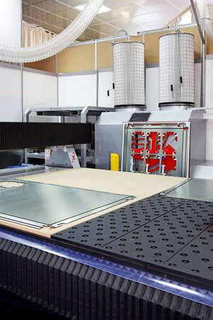 Close up shot of machine for metal cutting Stock Photo - 4710230