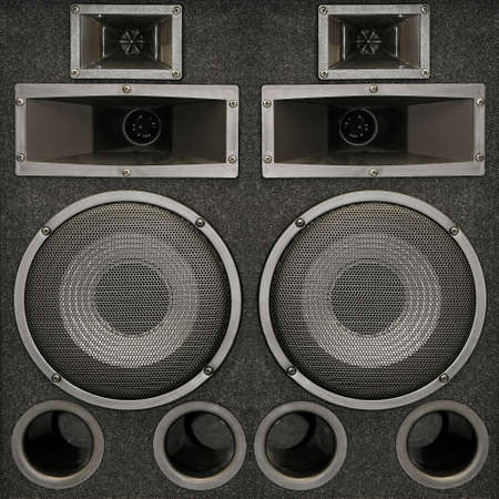 loudness: Close up shot of powerful loud speakers