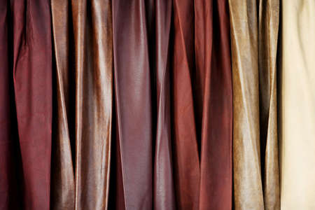 pelt: Close up shot of cow hide leathers Stock Photo