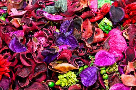 potpourri: Close up shot of aromatic purple potpourri Stock Photo
