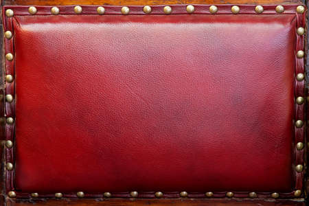upholster: Vintage style red leather upholster back texture Stock Photo