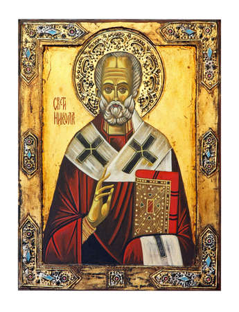 Saint Nicolas icon isolated Stock Photo - 4858219