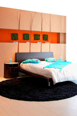 Interior shot of modern and bright bedroom Stock Photo - 4887906