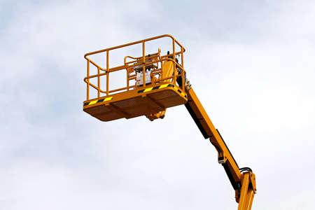 construction platform: Yellow construction platform bucket for high works