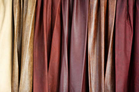 cow hide: Close up shot of cow hide leathers Stock Photo