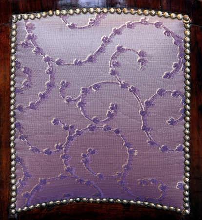 upholster: Close up shot of purple upholster pattern back Stock Photo