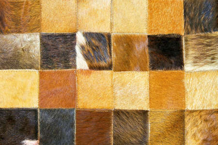 cow hide: Close up shot of brown cow hide texture