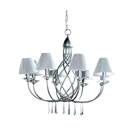 chandelier: Big silver chandelier Stock Photo