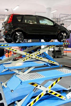 car repair shop: Interior of car repair shop garage service Stock Photo
