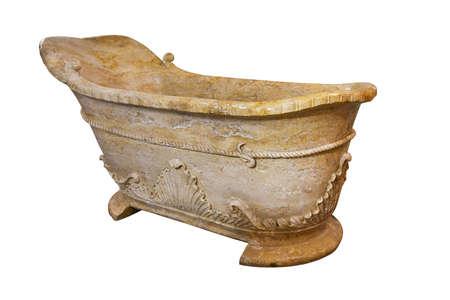 Old marble bathtub photo