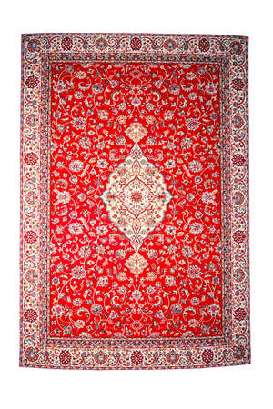 rug texture: Traditional red Persian isolated