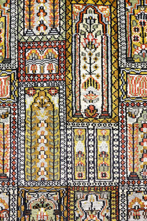 Close up shot of Persian carpet pattern Stock Photo - 5245531