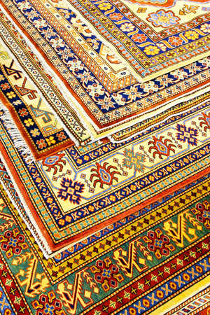 Bunch of colorful Persian carpets and rugs Stock Photo - 5245536