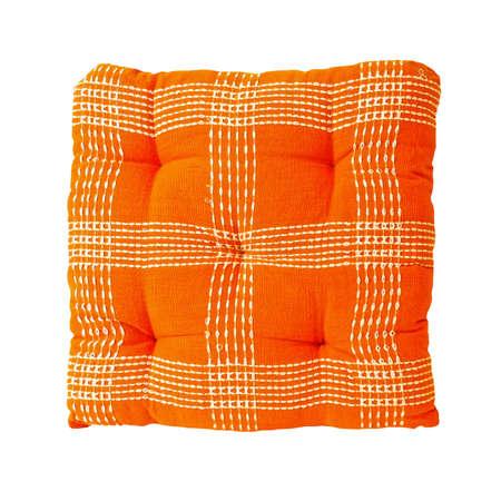 Orange linen pillow  photo