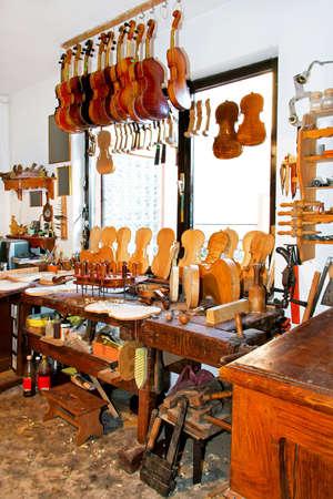 Interior shot of music workshop for violins Stock Photo - 5379254
