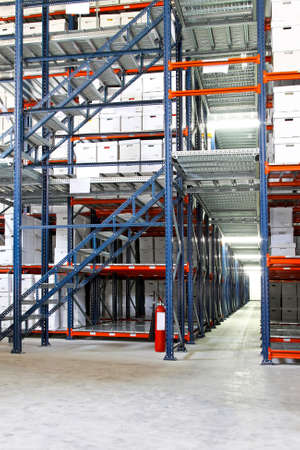 Interior shot of warehouse with self storage boxes Stock Photo - 5384652