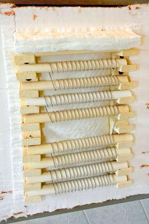 kiln: Close up shot of ceramic kiln oven heater Stock Photo