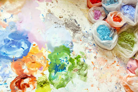 pigments: Color pigments ant dyes for painting mix