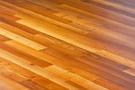 Diagonal lines of laminated hardwood parquet floor Stock Photo - 5700211