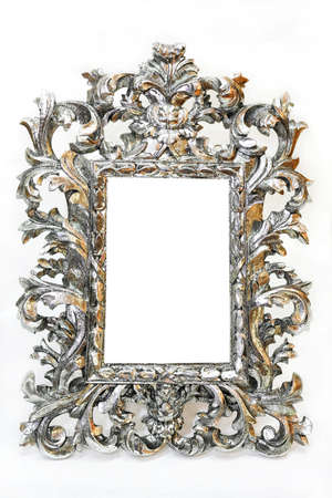 Very old and luxurious silver photo frame photo