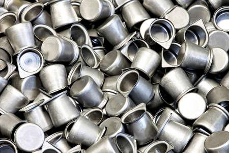 coffeepots: Bunch of raw metal coffee pots blanks Stock Photo