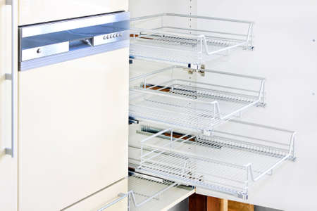 Close up shot of dish washer and wire rack Stock Photo - 5872037